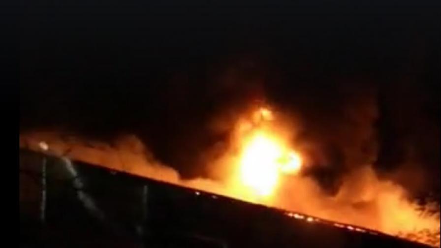 Пламна месокомбинатът край Велико Търново