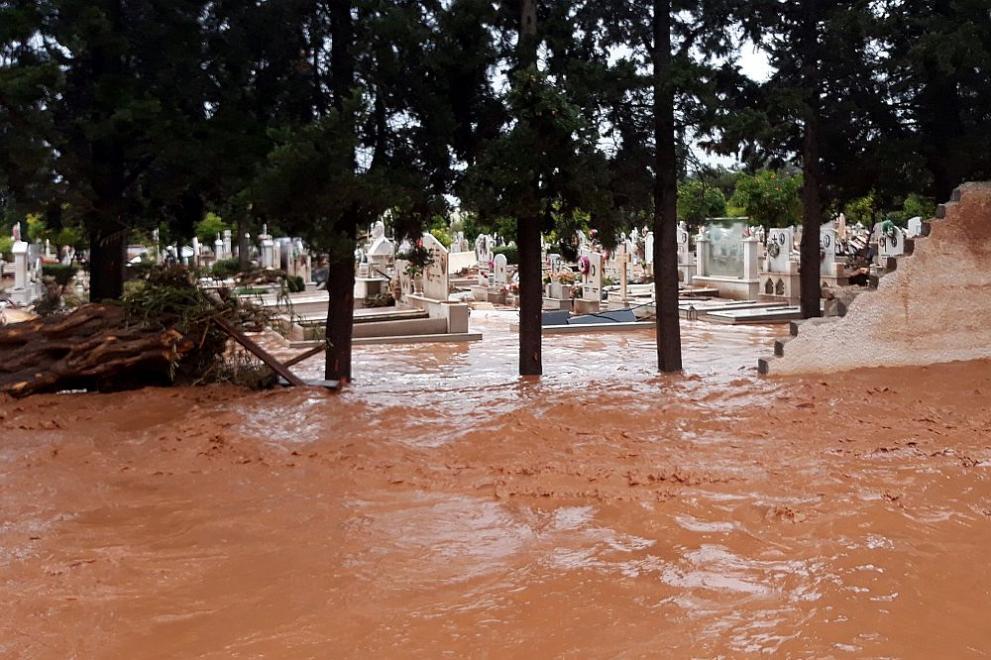Гърция наводнения