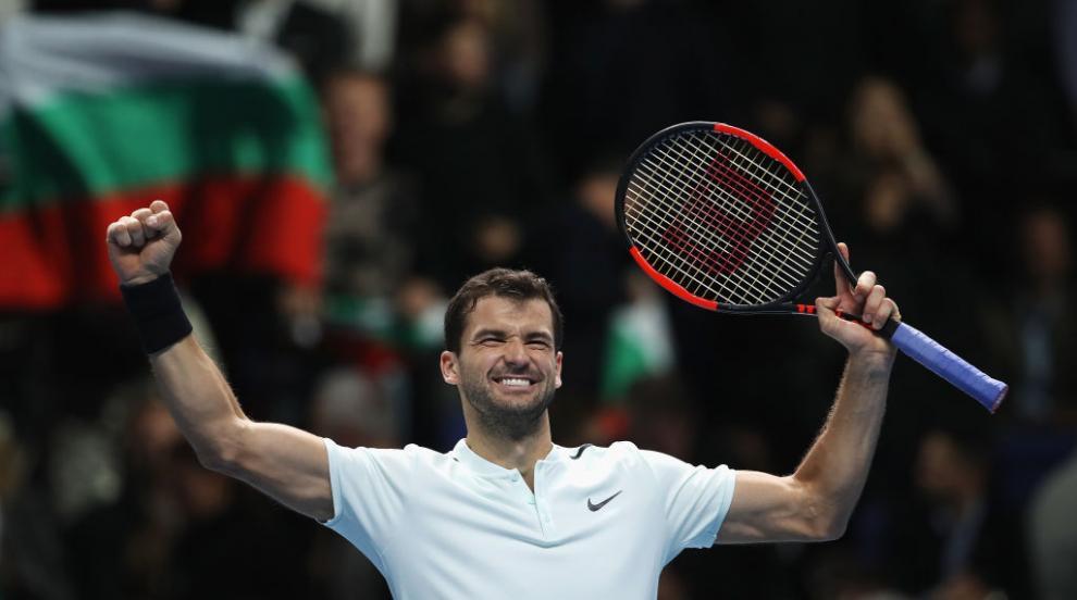 Двоен успех за Григор Димитров: Финал в Лондон и №3 в света