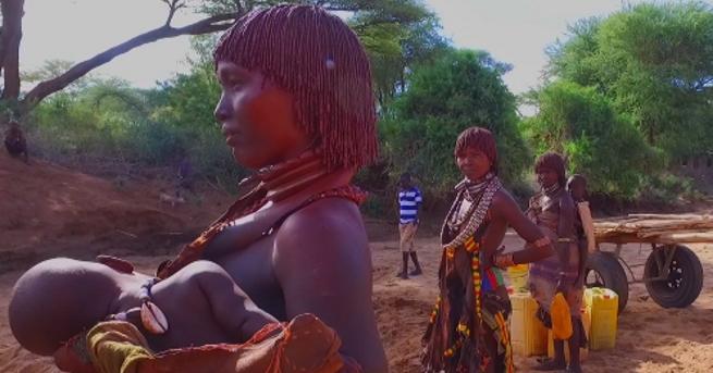 В долината на Омо в югозападна Етиопия, източен Южен Судан