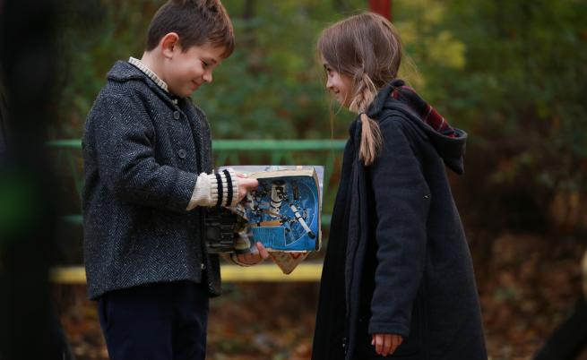 Каква беля са направили децата Биляна и Калин в училището?
