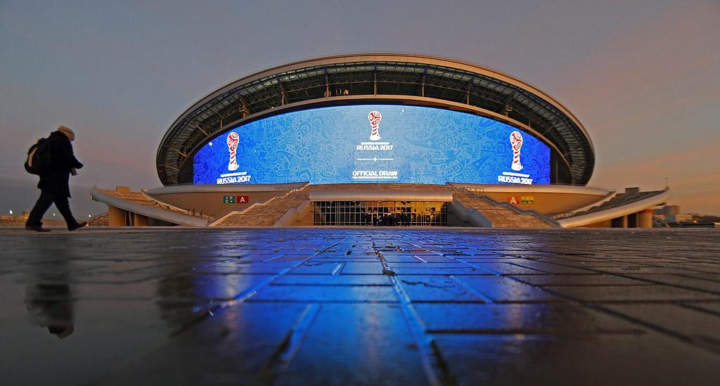 """""""Казан Арена"""", първата копка на стадиона в град Казан е направена лично от президента Владимир Путин. На съоръжението с капацитет 41 585 зрители играе местният футболен клуб """"Рубин"""", който през последните години няколко пъти стана шампион на Русия. На 22 юни 2017 тук Германия изигра мача си срещу Чили от турнира за Купата на конфедерациите."""