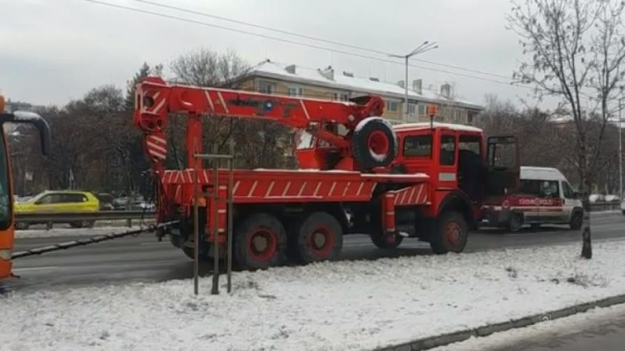 "Автобус се запали на ""Цариградско"""