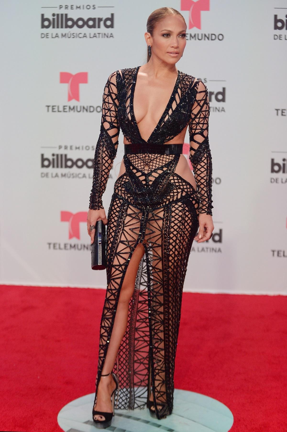"""Дженифър Лопес на наградите за латино музика на сп. """"Билборд"""" във Флорида."""
