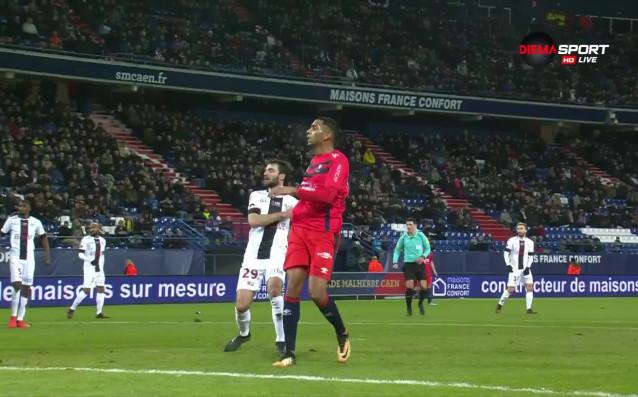 Сблъсъкът в средата на класирането на френското първенство между Каен