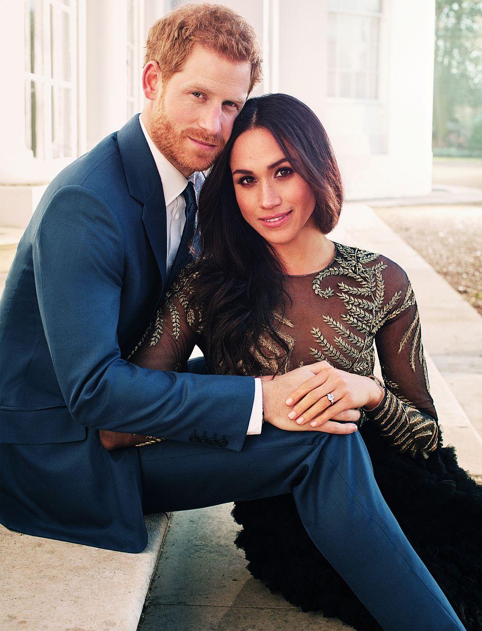 Официален портрет на принц Хари и Меган Маркъл