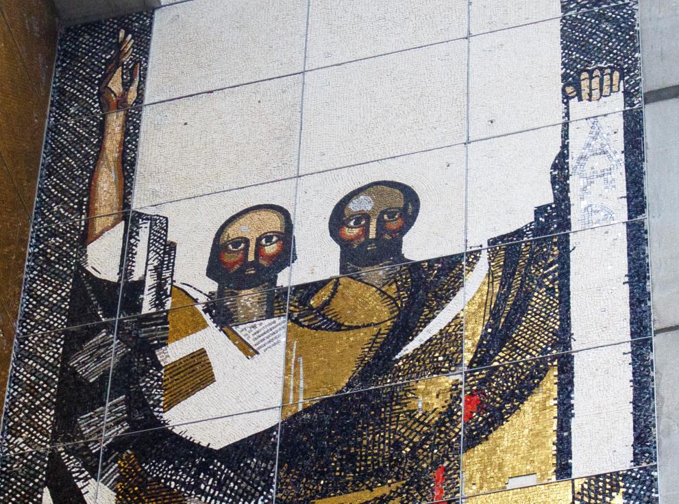 Едно щастлива вест, която получил майстор на мозайка