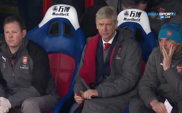 Венгер на трибуните за Нотингам-Арсенал, Леман му прави компания