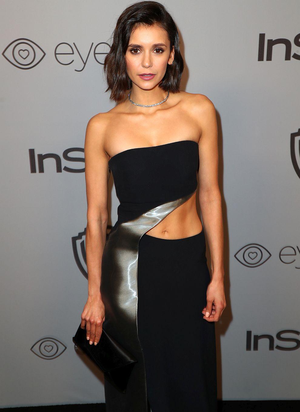 Нина Добрев на партито на InStyle и Warner Bros след 75-ата церемония по връчване на наградите Златен глобус