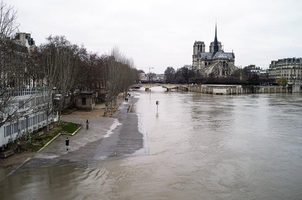 - Улици и тротоари в крайбрежната част на Париж бяха отцепени заради повишаващото се равнище на водата на река Сена и създалата се в резултат на това...
