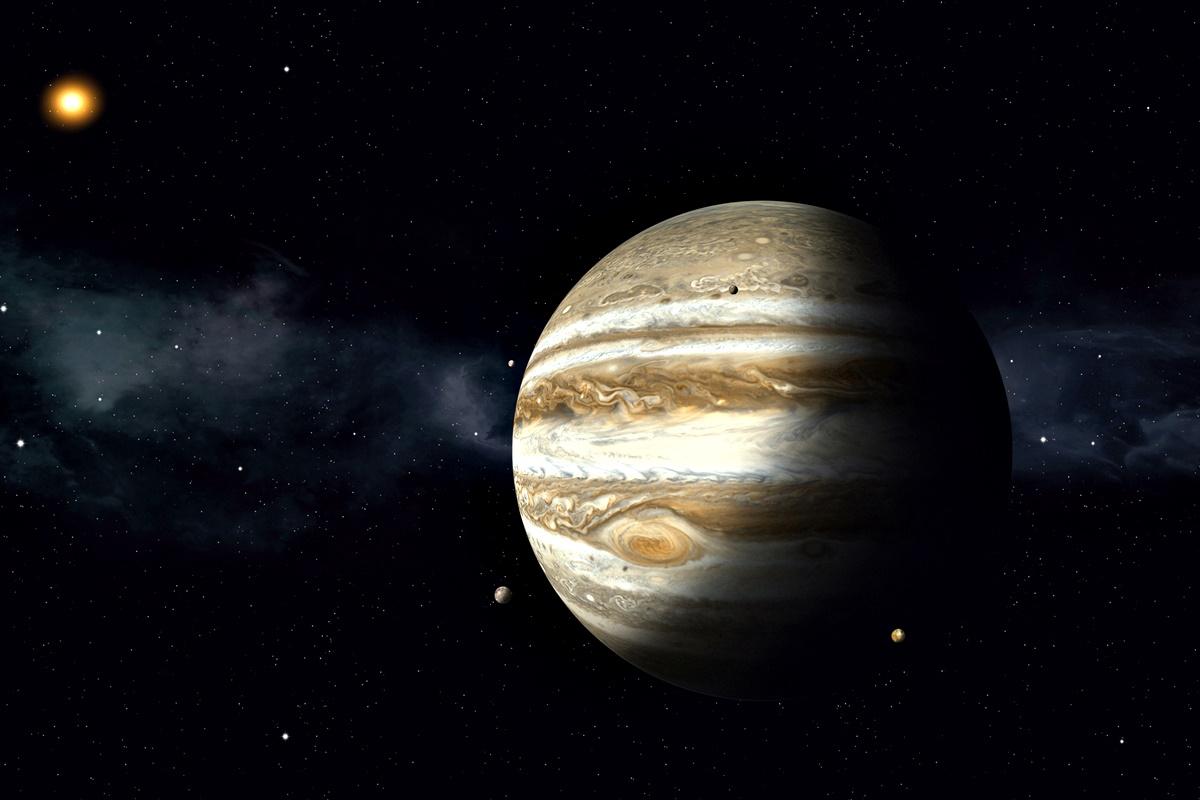 """Юпитер<br /> Тъй като е газова планета, престоят на Юпитер, или пък в Юпитер, би бил доста неприятен.<br /> """"Ще попаднете в газовата ѝ атмосфера, докато налягането на планетата не ви смаже"""", обяснява Нийл деГрас.<br /> Продължителност на човешки живот на Юпитер – по-малко от секунда."""