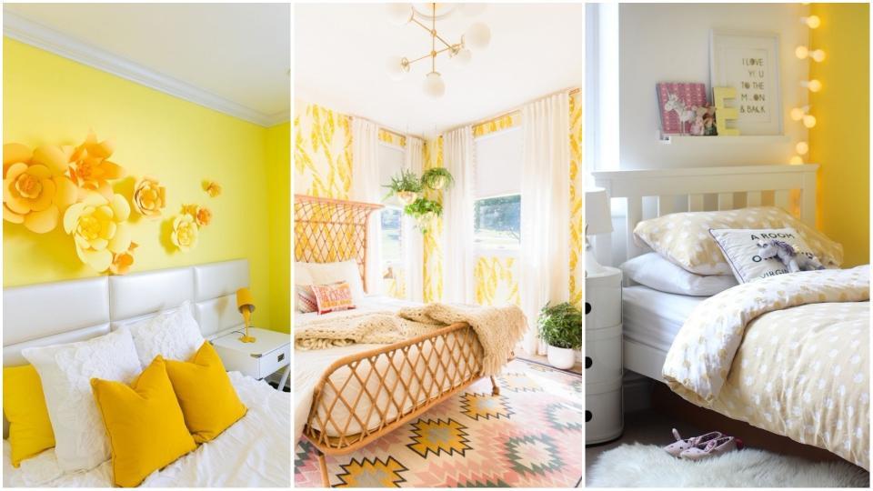 жълта спалня