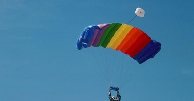 Неспазване на правилата и указанията при скок с парашут е
