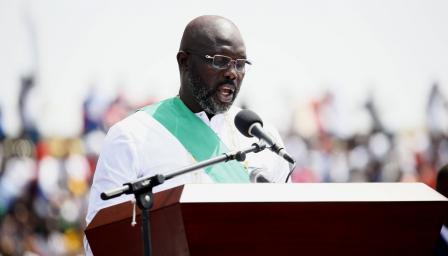 Джордж Уеа се закле като президент на Либерия