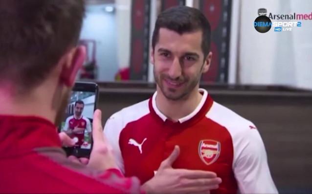 Новото попълнение на Арсенал Хенрих Мхитарян получи официално фланелката с