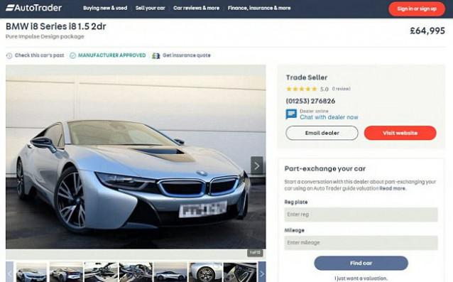 Супермодерният електромобил BMW i8, притежание на Уейн Рууни, вече е