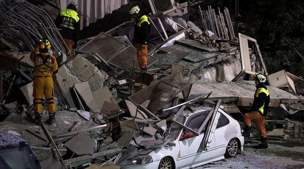 170 души са в неизвестност след земетресението в Тайван