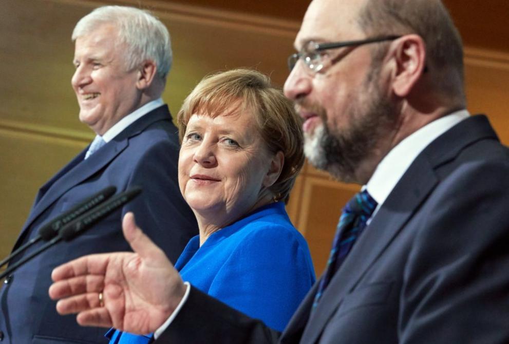Меркел и Шулц