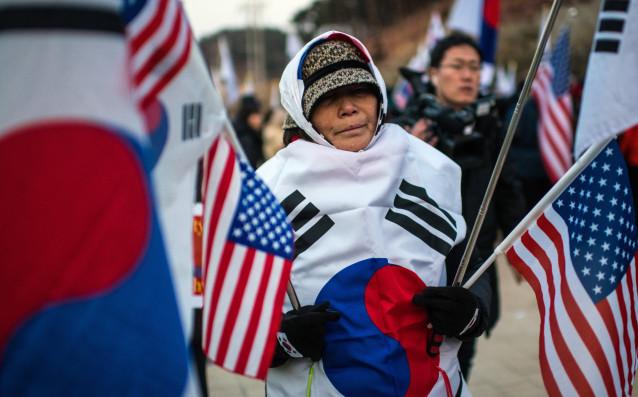 Анти Северна Корея протест<strong> източник: Gulliver/GettyImages</strong>