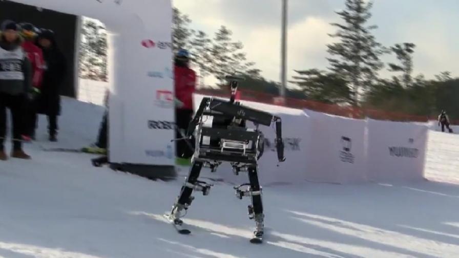 Роботи си спретнаха частно състезание в Пьончанг