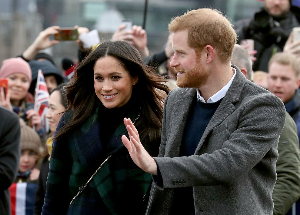 Принц Хари и Меган Маркъл в Единбург