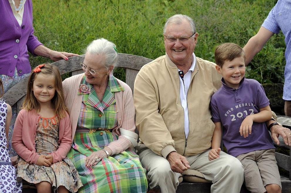 Принц Хенрик и датската кралица Маргрете Втора