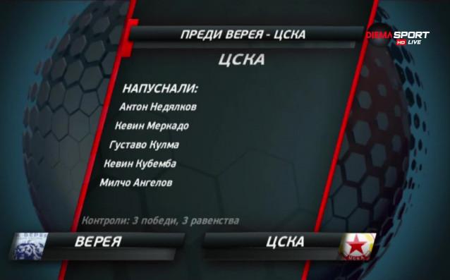 ЦСКА гостува на Верея в първия си мач от пролетния