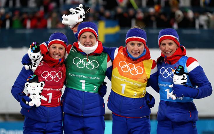 Норвегия с драматично злато в ски-бягането заради вечната Бьорген