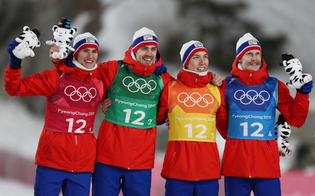 Норвегия спечели златен медал в отборния ски-скок за мъже от