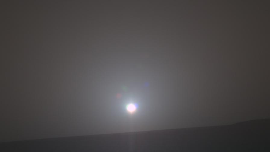 Така изглежда изгревът на Марс от гледната точка на марсохода Opportunity