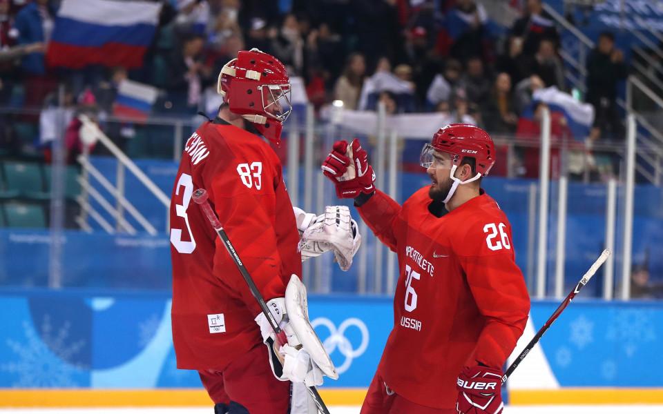 Русия разгроми Норвегия и е на ½-финал в хокея