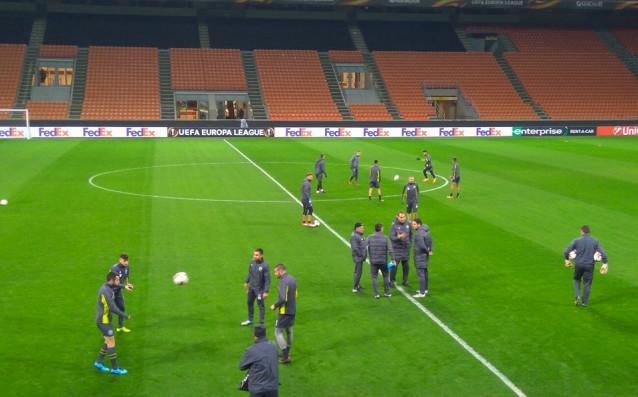 Лудогорец тренира преди мача с Милан<strong> източник: Веско Вълчев</strong>
