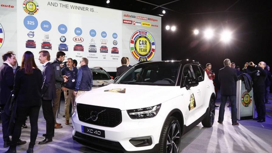 """Volvo XC40 е """"Автомобил на 2018 година в Европа"""""""