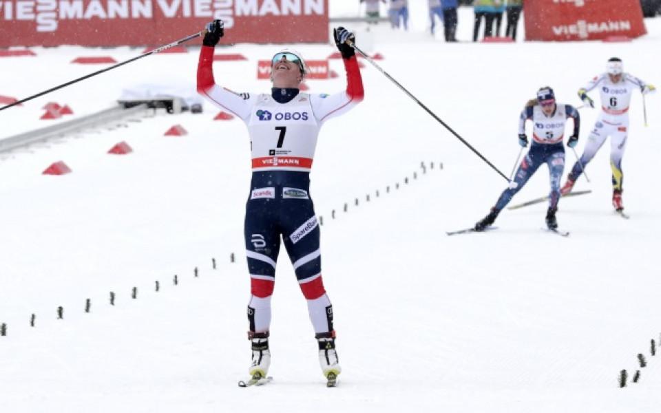 Марит Бьорген с нова победа, този път на домашна сцена