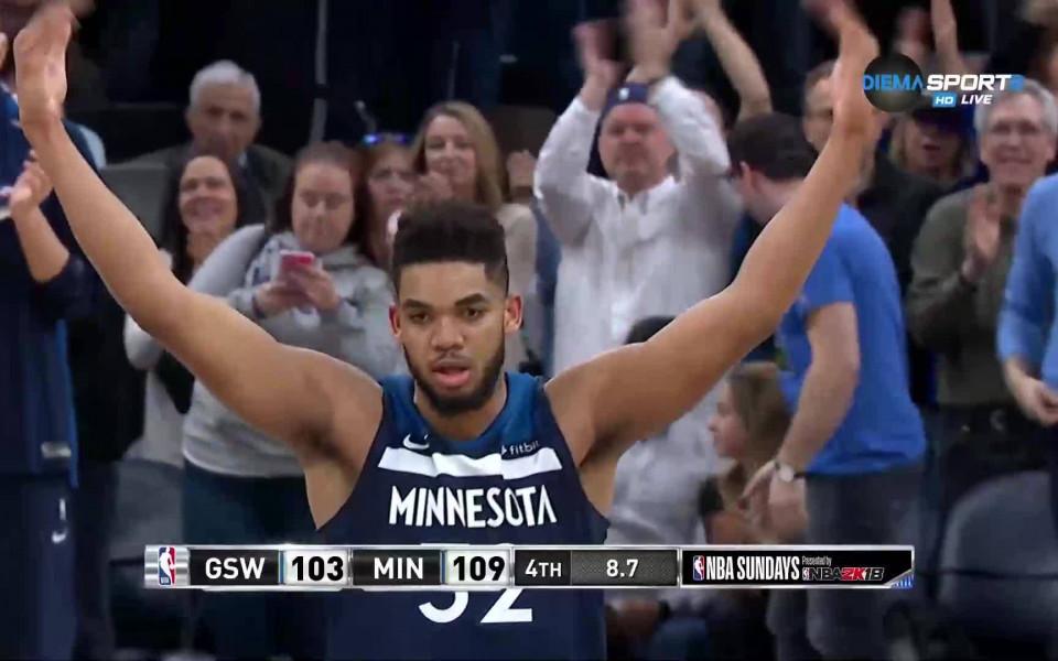 Минесота хвана последния влак за плейофите в НБА