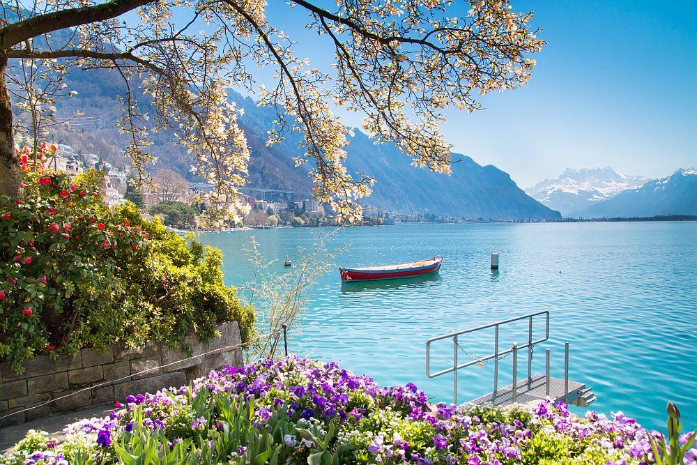 <strong>Монтрьо, Швейцария</strong><br> <br> Първата мисъл, която швейцарският град Монтрьо извиква, е световноизвестният джаз фестивал. Втората – приказното Женевско езеро. Градът е закътан в залив на езерото, заобиколен е от живописни лозя, а като фон се подават снежните върхове на Алпите.