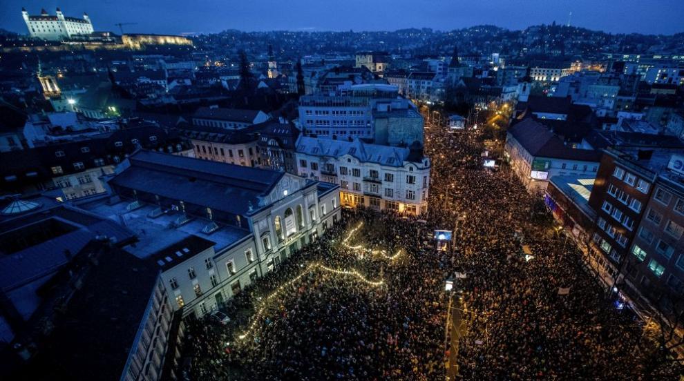 Десетки хиляди протестираха в Словакия, искат нови избори