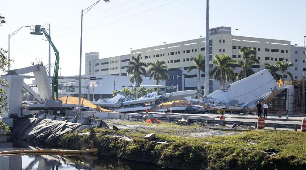 Инженер съобщил за пукнатини в рухналия мост във Флорида преди срутването
