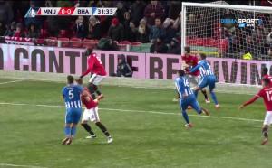 Манчестър Юнайтед - Брайтън 1:0 /първо полувреме/