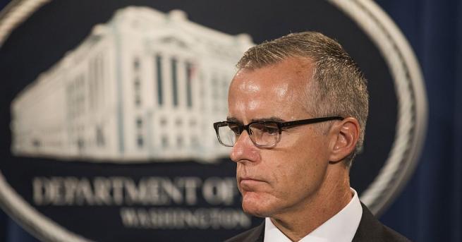 Уволненият заместник-директор на ФБР Андрю Маккейб си е водел бележки,