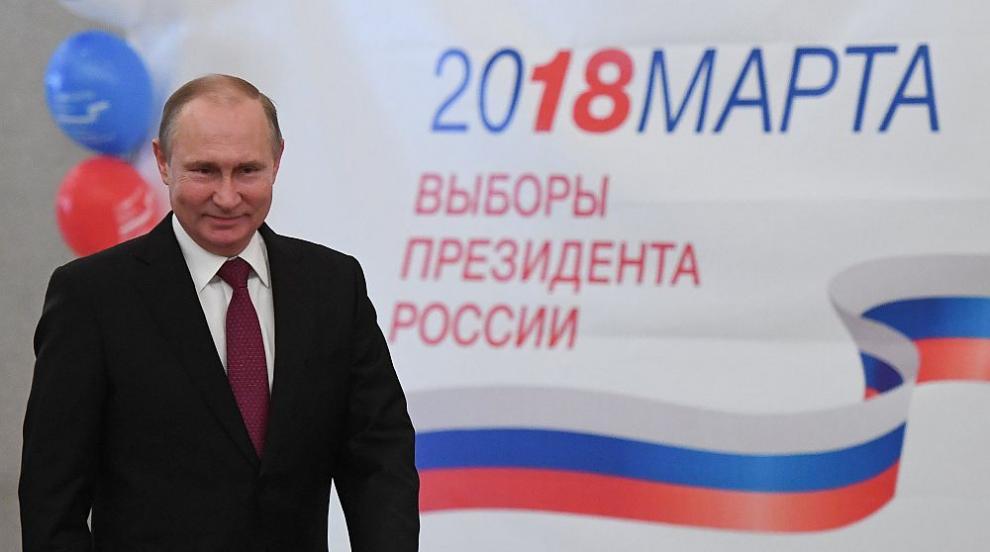 Путин е преизбран убедително за президент на Русия