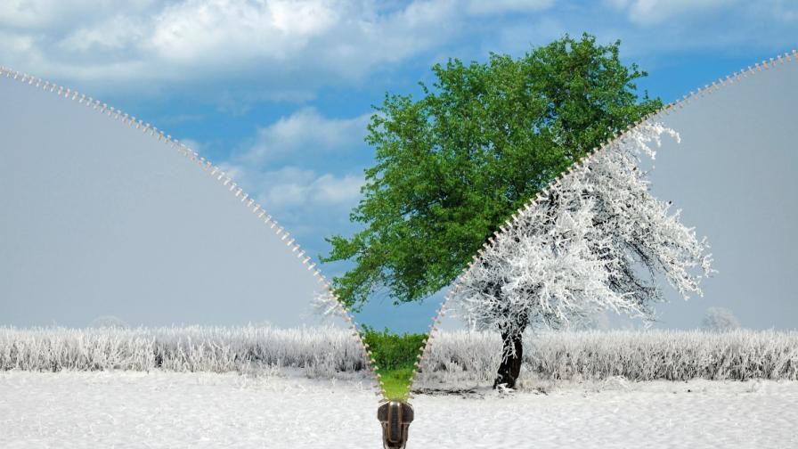 <p>Идва сняг, какво ще е времето през април</p>