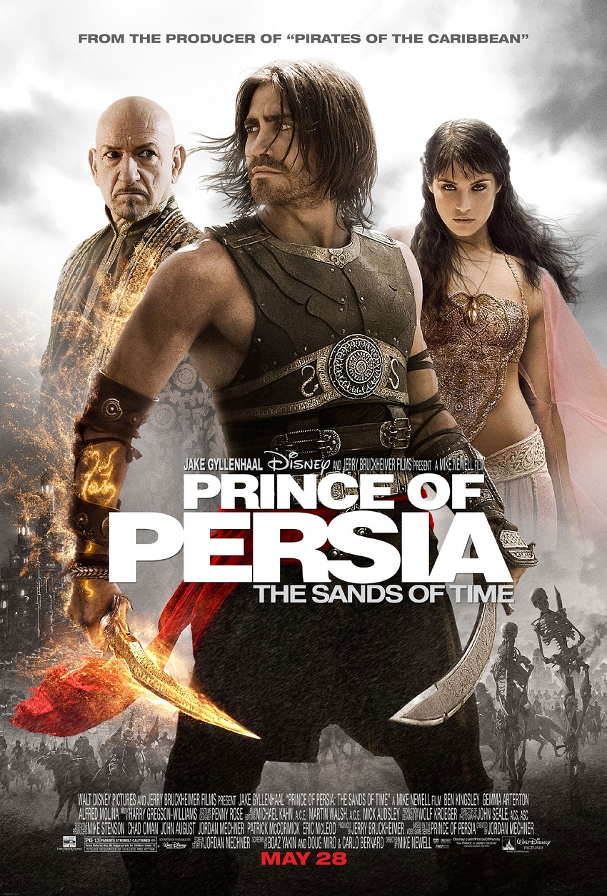"""Prince of Persia: The Sands of Time – Обединените усилия на студиото """"Уолт Дисни"""", суперзвездата Джейк Гиленхол, ослепителната Джема Артъртън и носителя на """"Оскар"""" сър Бен Кингсли не успяха да спасят тази адаптация на видеоигра от плосък сюжет и слаб диалог въпреки засвидетелстваната химия между изпълнителите на двете главни роли."""
