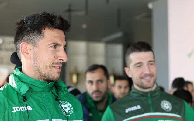 Футболистите и щабът на националния отбор на Българиясе срещнаха с