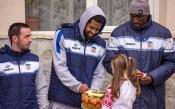 Баскетболистите на Рилски спортист зарадваха ученици<strong> източник: НБЛ, Ивайло Андреев</strong>