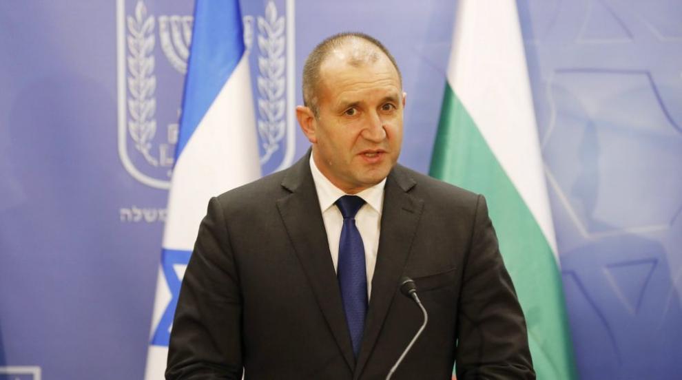Радев: Израел е пример за модерна държава с работеща демокрация