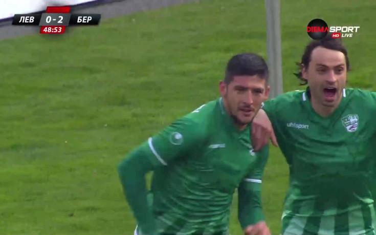 Камен Хаджиев покачи за 2:0 за Берое срещу