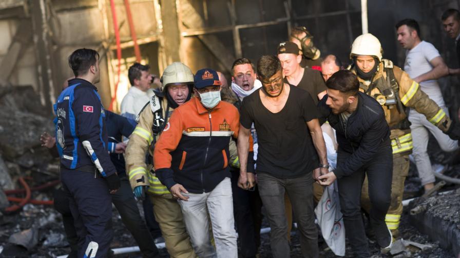 Пожар в болница в Турция