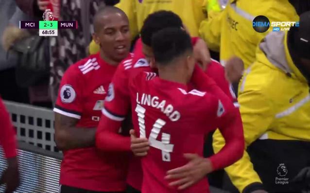 Манчестър Юнайтед осъществи пълен обрат от 0:2 до 3:2 в
