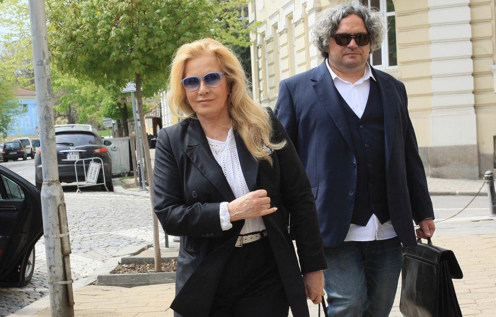 Френската певица от български произход Силви Вартан и съпругът й Тони Скоти в София